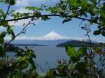 Vue du volcan depuis Puerto Octay