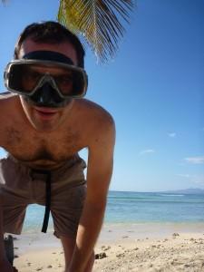 snorkeling a Playa Ancon