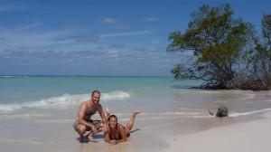 Pose obligee sur cette plage paradisiaque