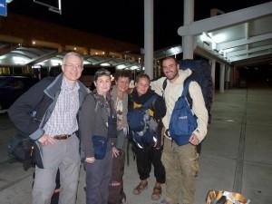 Retrouvailles a l'aeroport de Cancun