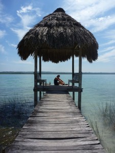 Plus besoin d aller a Bora-Bora, on a le lac Peten Itza