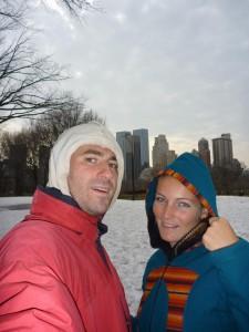 Reste de neige sur Central Park