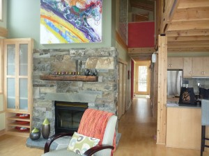 Le petit salon de la Lake Cabin