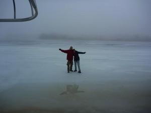 Un peu trop froid pour utiliser le jet-ski sur le lac