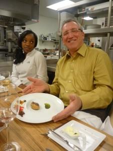 Richard, heureux de son foie gras poele