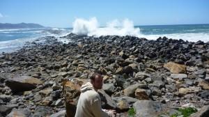 Enooormes vagues a Morro Bay