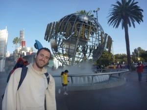 Devant les Universal Studios de Los Angeles