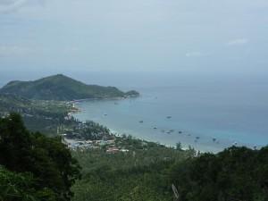 Point de vue sur notre plage e Koh Tao