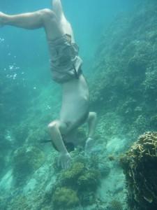 Pierol se lache completement sous l'eau