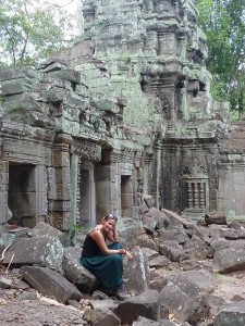 Perdue dans le temple de Ta Phrom