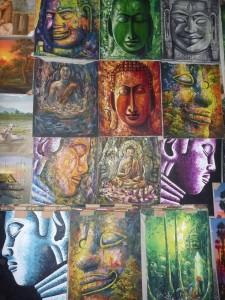 peintures +/- 50x50cm : 10 a 20 euros