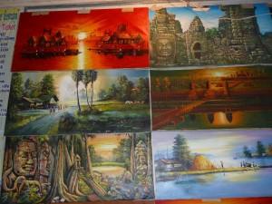 peintures diverses (de A4 a 150x100cm) : de 3 a 45 euros