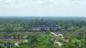 Vue de Angkor Wat depuis la mongolfiere