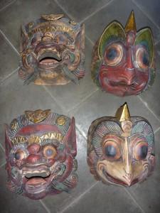 Masques (25cm) : 5eur piece