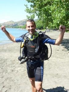 plongeur bienheureux