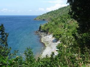 Vue de la cote nord-est de Bali