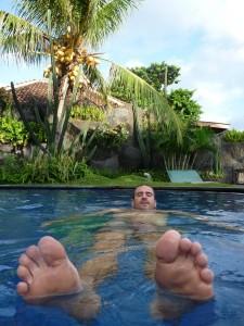 Le contenu de la piscine