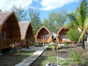 Notre bungalow sur Gili Meno