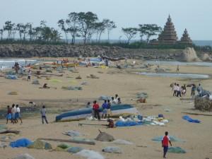 La plage de Mamallapuram