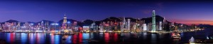 Hong Kong by night (merci Google Images)