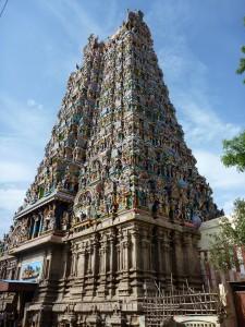 Temple kitschissime de Madurai