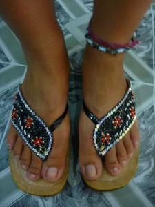 Sandales : 6eur
