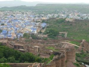Jodhpur la bleue vue du Palais