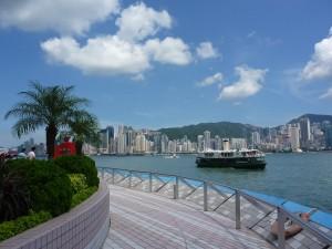 Promenade sur le Wlk of Fame de Kowloon