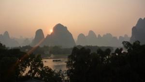 Coucher de soleil sur Xingping