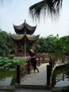 Dans le parc de Chengdu