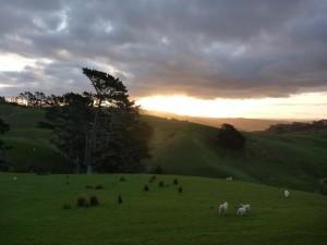 Coucher de soleil sur The Shire